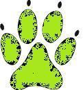 Hundepfoten-klein grün